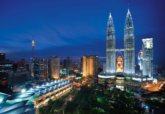 Ночные огни Куала-Лумпур.