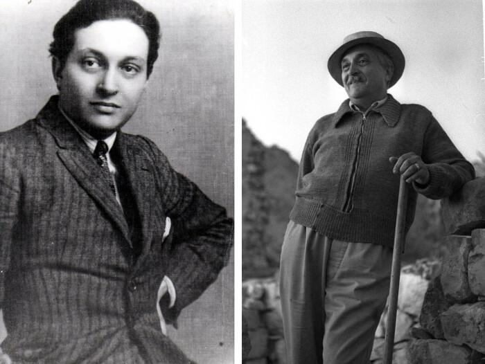 Слева направо: Марсель Янко во время своего пребывания в Цюрихе, 1916 год. \ Марсель Янко в середине 1950-х годов. \ Фото: google.com.