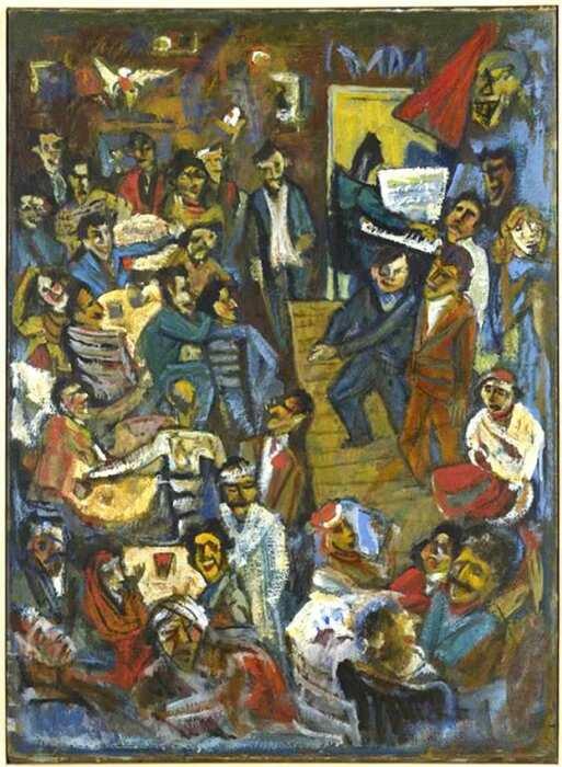 Кабаре Вольтер (репродукция утраченного оригинала 1916 года), Марсель Янко, 1960-е годы. \ Фото: yandex.ua.