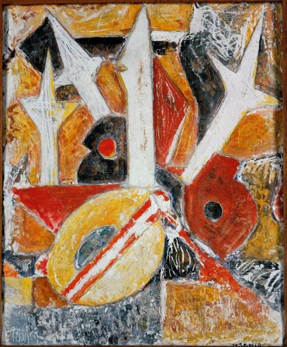 Цветочная геометрия, Марсель Янко, 1917 год. \ Фото: centrepompidou.fr.