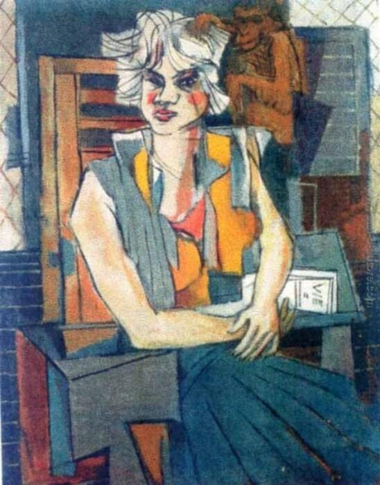 Портрет девушки, Марсель Янко, 1930 год. \ Фото: falsi-d-autore.it.