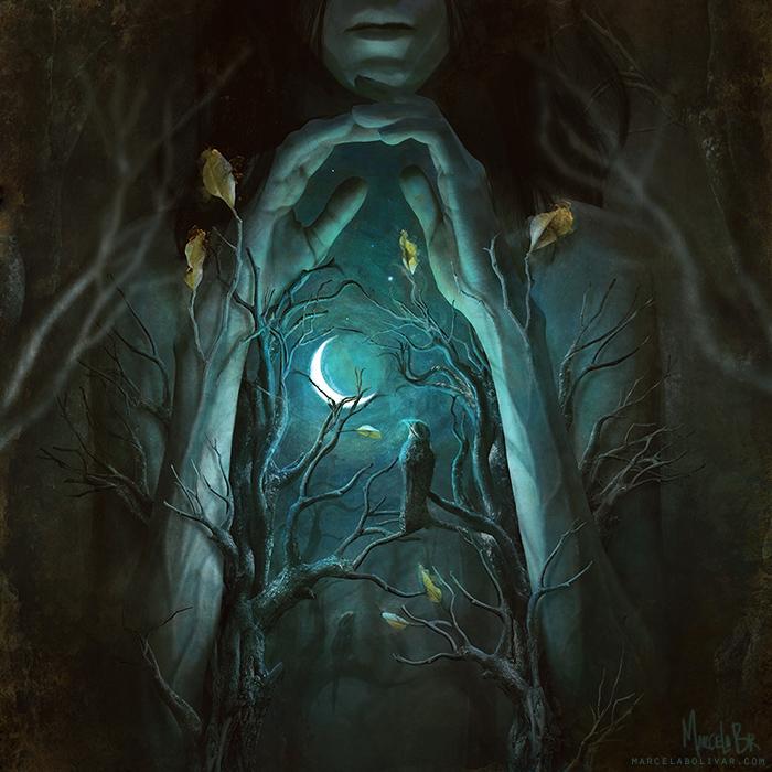 Полночная интерлюдия (Midnight interlude). Автор работ: Марсела Боливар (Marcela Bolivar).