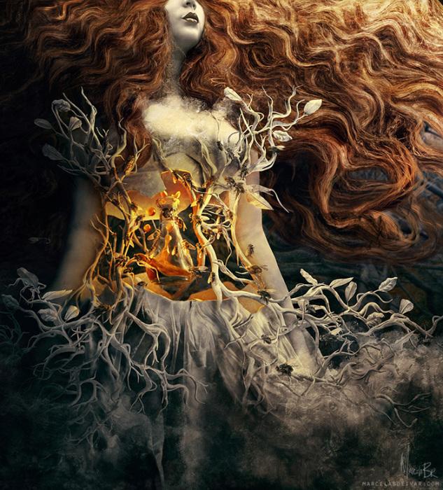 Сера (Sulfur). Автор работ: Марсела Боливар (Marcela Bolivar).
