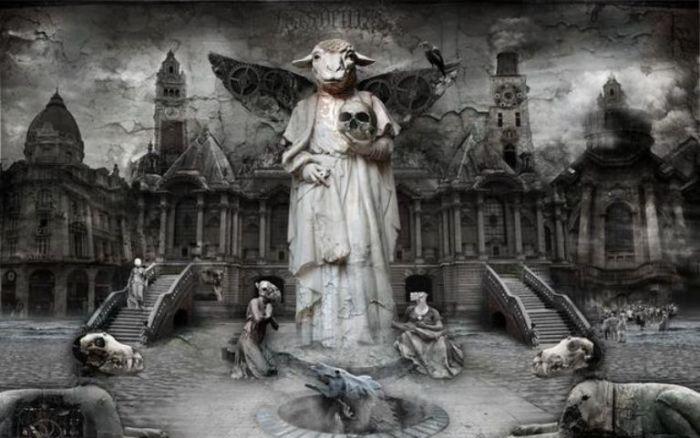 Религия. Мрачный сюрреализм в работах польского художника Марцина Овчарек (Marcin Owczarek).