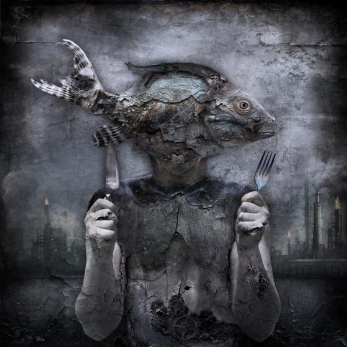 Безразборное питание. Мрачный сюрреализм в работах польского художника Марцина Овчарек (Marcin Owczarek).