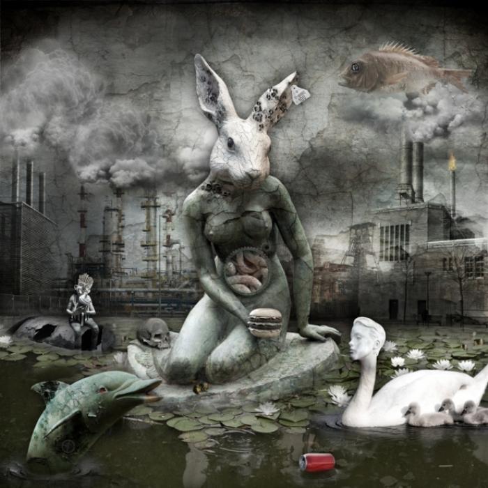 Загрязнение окружающей среды. Мрачный сюрреализм в работах польского художника Марцина Овчарек (Marcin Owczarek).