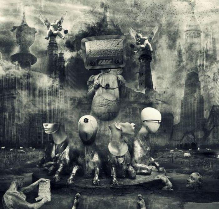 Техногенная зависимость. Мрачный сюрреализм в работах польского художника Марцина Овчарек (Marcin Owczarek).