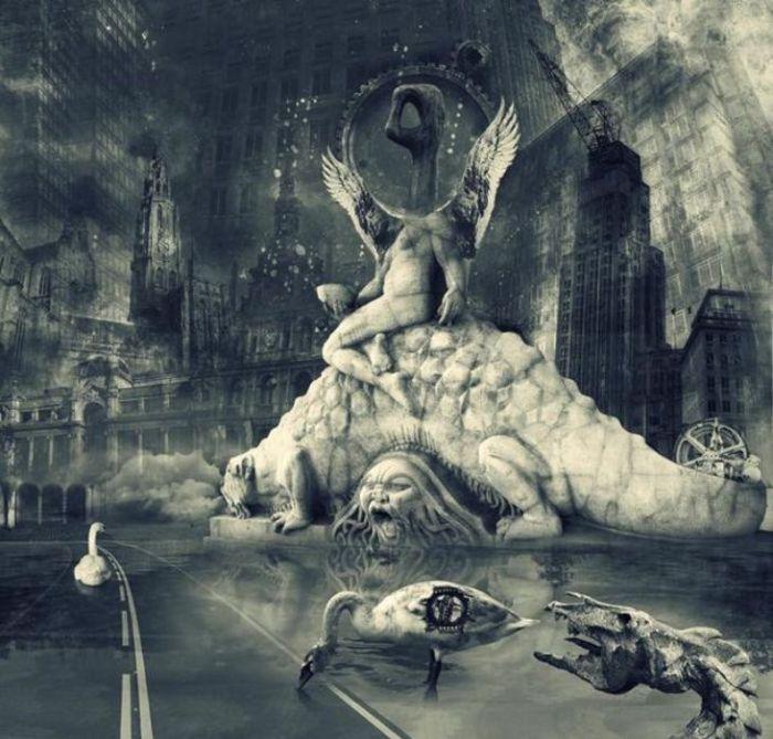 Шокирующая действительность. Мрачный сюрреализм в работах польского художника Марцина Овчарек (Marcin Owczarek).