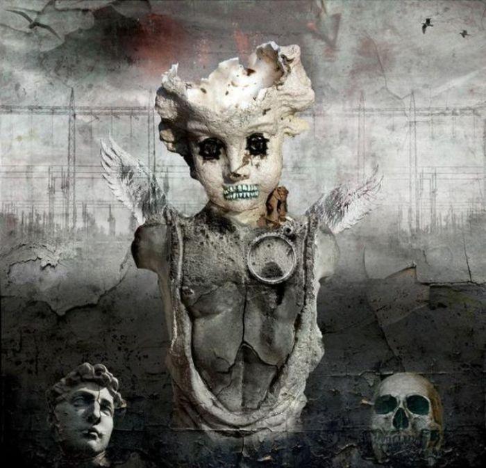 В погоне за модой, ценой собственного здоровья. Мрачный сюрреализм в работах польского художника Марцина Овчарек (Marcin Owczarek).