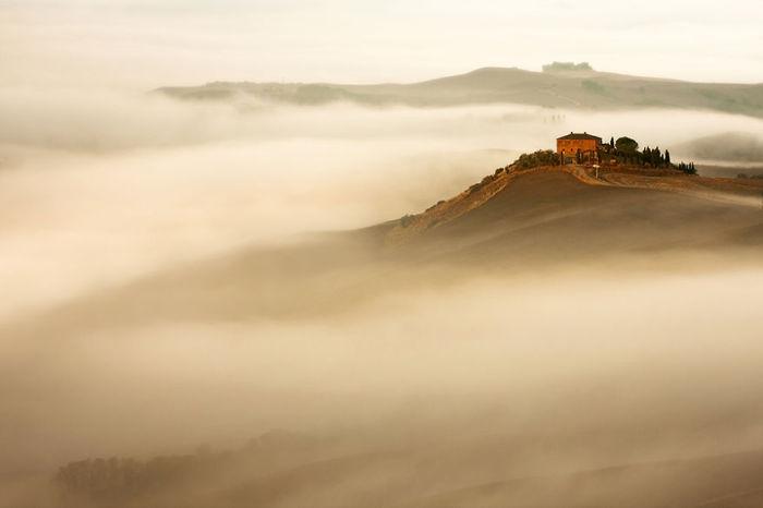 In the mist. (В тумане). Таскана, Италия. Фото Marcin Sobas.