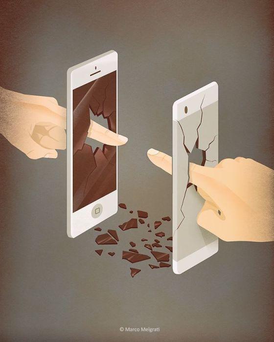 Соцсети не заменяют реальный контакт. Автор: Marco Melgrati.
