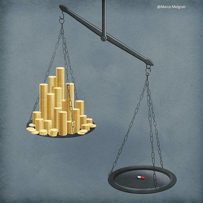 Несоразмерность цен на лекарства. Автор: Marco Melgrati.