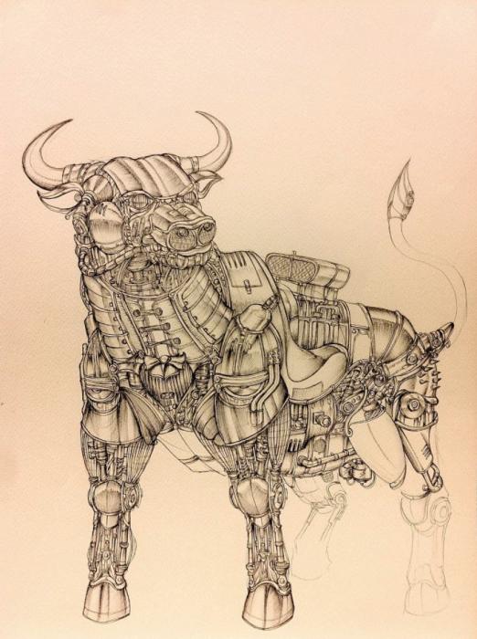 Bosengine Taurus. (Телец). Автор рисунка: Marcomatic.