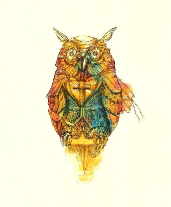 Dapper Owl. (Сова). Автор рисунка: Marcomatic.