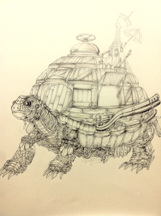 Fortress Tortoise. (Крепость черепахи). Автор рисунка: Marcomatic.