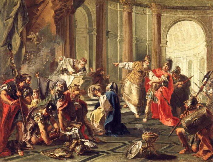 Красс разграбляет храм в Иерусалиме, Джованни Баттиста Питтони, 1743 год. \ Фото: amazon.de.