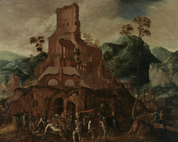 Смерть Марка Лициния Красса, Ланселот Блондель, XVI век. \ Фото: zone47.com.