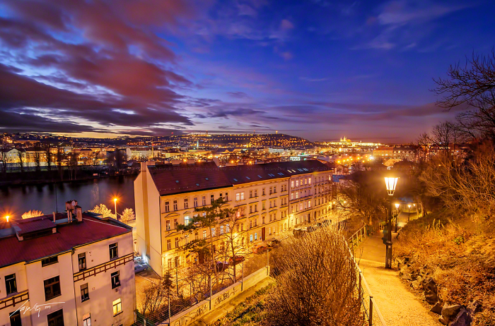 Вышеград на закате (Vyšehrad Sunset). Автор фото: Марек Киевски (Marek Kijevsky).