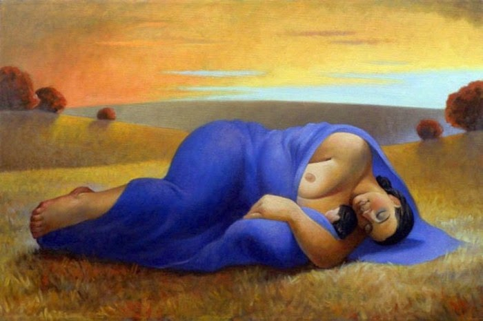Спящая мать. Картины российской художницы Маргариты Сикорской (Margarita Sikorskaia).