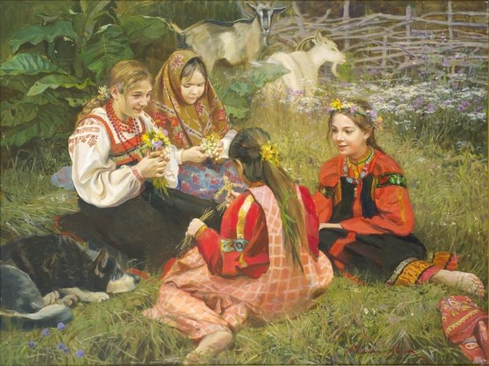 Девочки на поляне. Автор: Молодых Мария.
