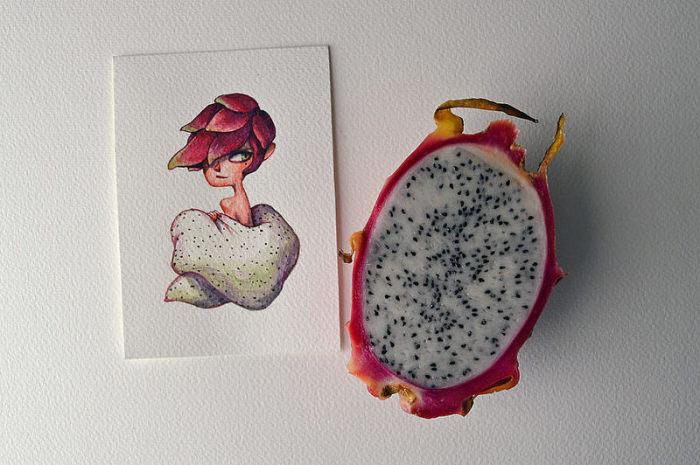 Заманчивая питахайя. Автор: Мария Тиурина.