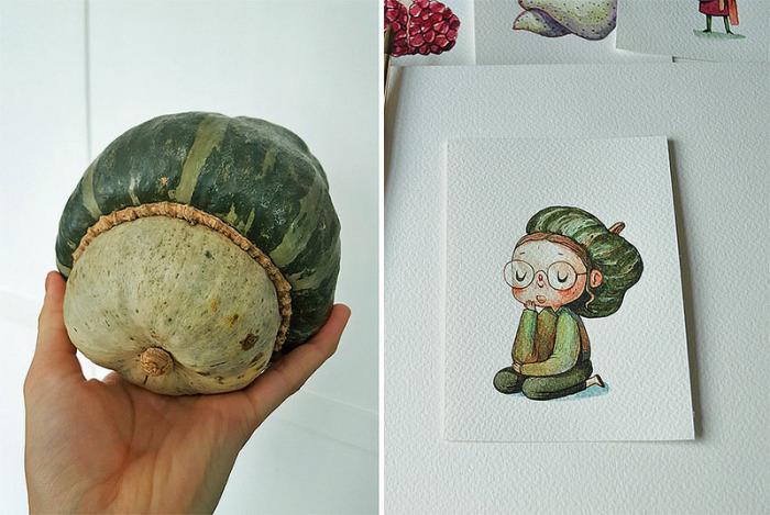 Задумчивая гигантская тыква. Автор: Мария Тиурина.