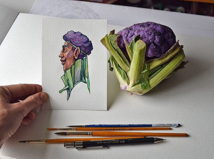 Крутая фиолетовая капуста. Автор: Мария Тиурина.