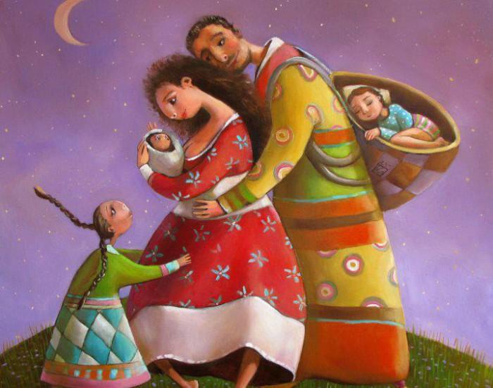 Счастливая семья. Автор: Мариана Калачёва.