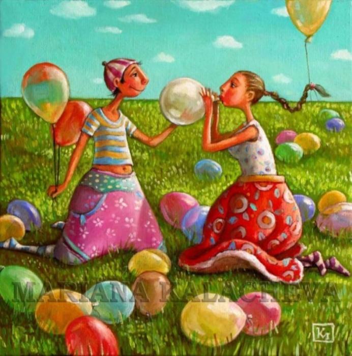 Шарики. Автор: Мариана Калачёва.