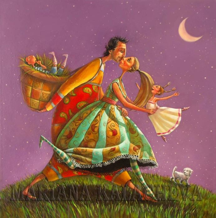 Романтика звёздной ночью. Автор: Мариана Калачёва.