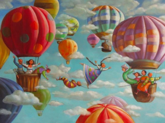 На большом воздушном шаре. Автор: Мариана Калачёва.