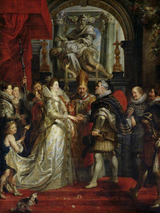 Бракосочетание Марии Медичи с королём Франции Генрихом IV. \ Фото: pinterest.com.