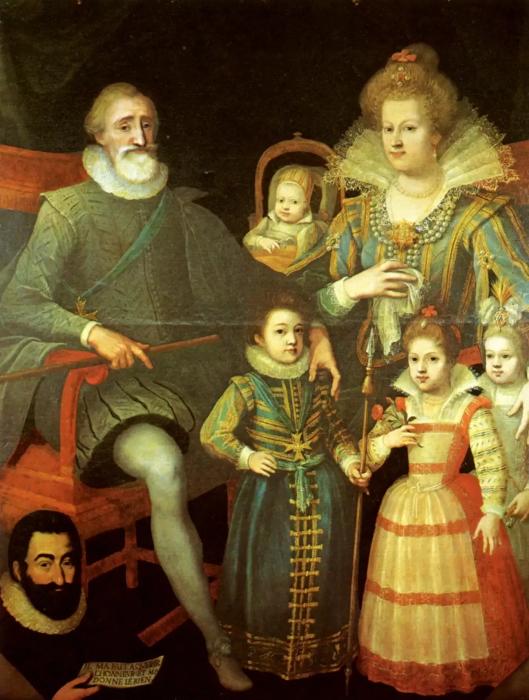 Мария с Генрихом и детьми. \ Фото: simplesmenteparis.com.