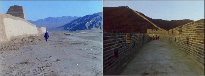 Абрамович и Улай идут по Великой Китайской стене, 1988 год. \ Фото: google.com.