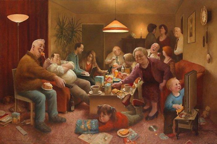 Семейные посиделки. Автор: Marius van Dokkum.