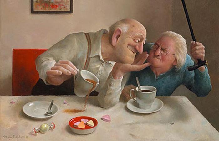 Чаепитие. Автор: Marius van Dokkum.