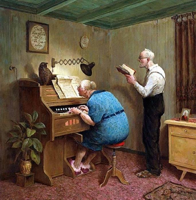 Творческий вечер. Автор: Marius van Dokkum.