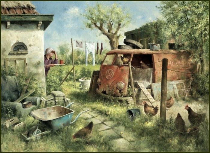 Деревенское раздолье. Автор: Marius van Dokkum.
