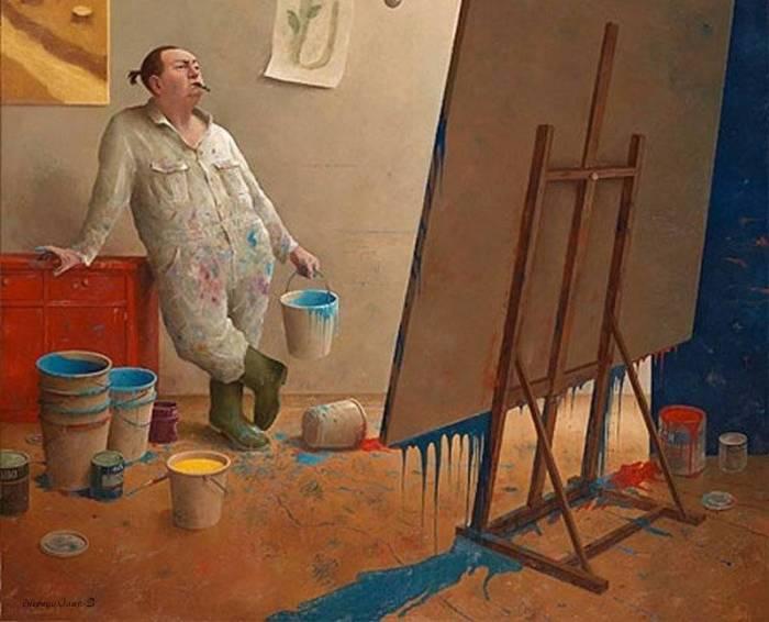 Современное искусство. Автор: Marius van Dokkum.