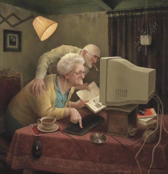 Уроки информатики. Автор: Marius van Dokkum.