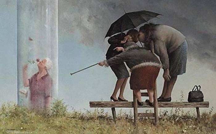 Сплетни. Автор: Marius van Dokkum.