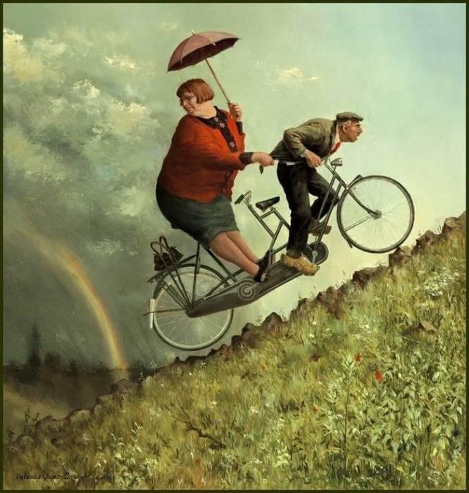 В гору. Автор: Marius van Dokkum.