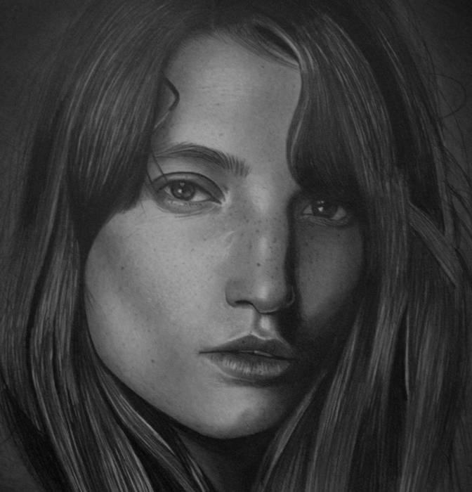 Реалистичный портрет девушки. Автор: Mariusz Kedzierski.