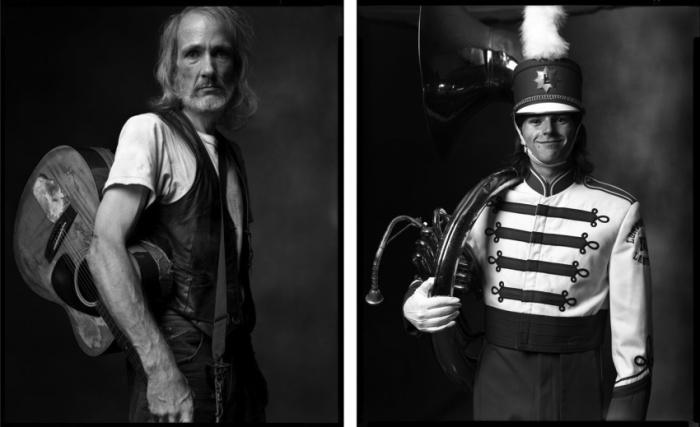 Музыкант в метро и Музыкант марширующего оркестра. Автор фото: Марк Лайт (Mark Laita).