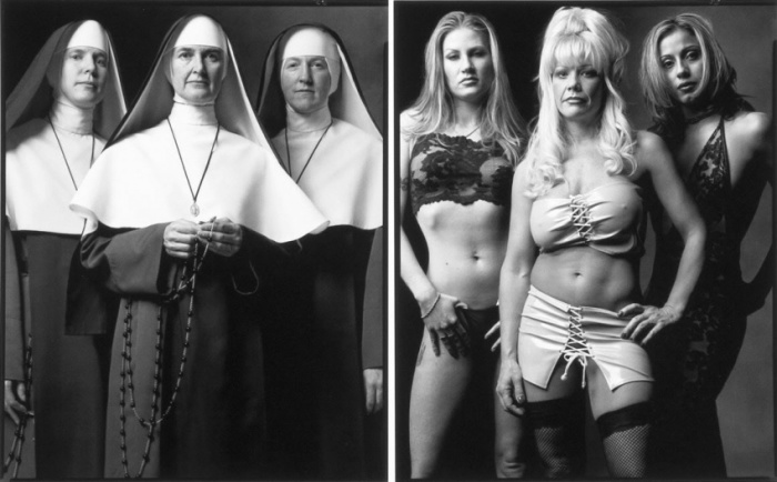 Монахини и Девушки лёгкого поведения. Автор фото: Марк Лайт (Mark Laita).