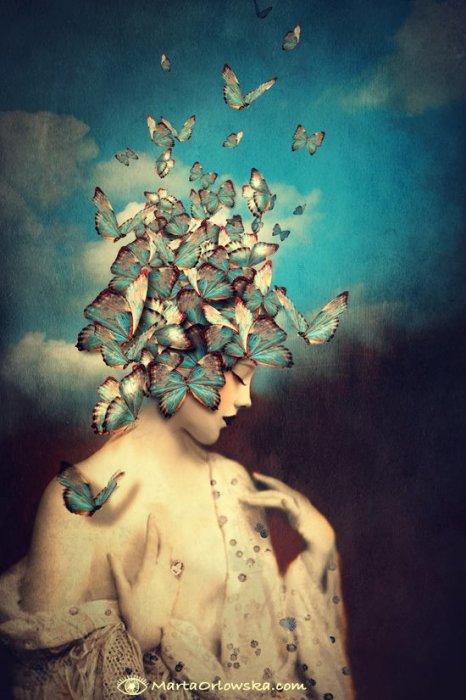 День голубой бабочки. Автор: Marta Orlowska.