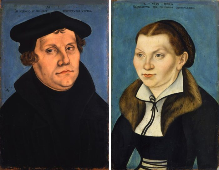 Катарина фон Бора и Мартин Лютер.  Фото: mtzionlutheran.org.