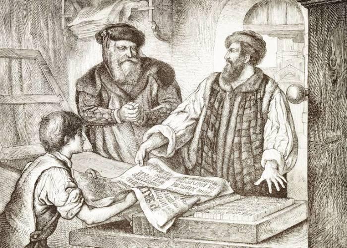 Иоганн Гутенберг - человек, который изобрёл первый печатный станок.  Фото: thoughtco.com.