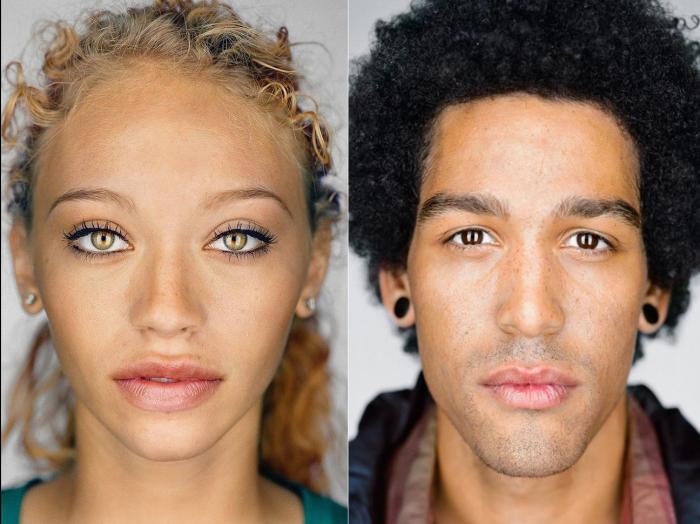Яркие представители смешанной расы и национальности в фотографиях Мартина Шоллера (Martin Schoeller).