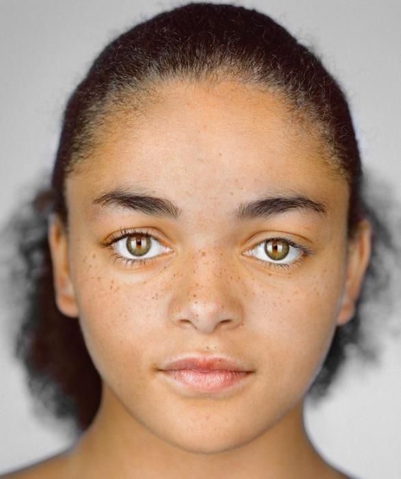 Имани Корнелиус, 13 лет. Расово-национальная принадлежность: Чёрнокожая, белая, афроамериканка.
